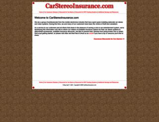 carstereoinsurance.com screenshot