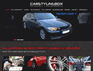 carstylingbox-zirndorf.de screenshot