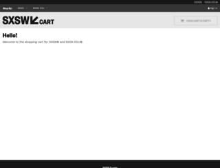 cart.sxsw.com screenshot