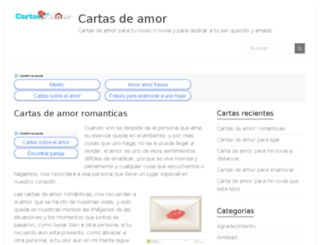 cartasdeamor.org.mx screenshot