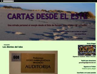 cartasdesdeleste.blogspot.com screenshot