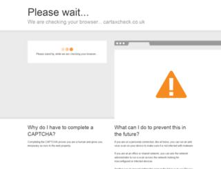 cartaxcheck.co.uk screenshot
