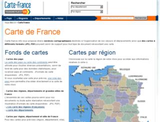 carte-france.info screenshot
