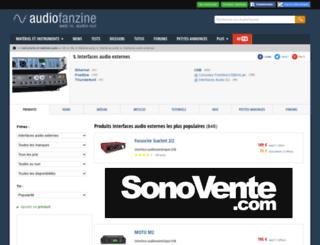 carte-son-externe.audiofanzine.com screenshot