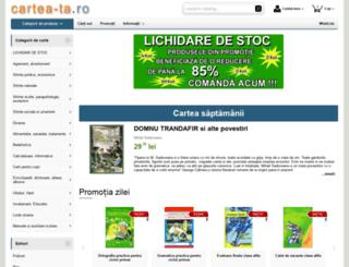 cartea-ta.ro screenshot