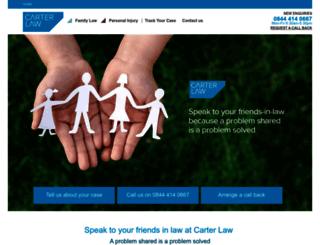 carter-law.co.uk screenshot