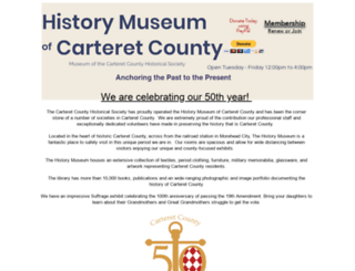 carterethistory.org screenshot