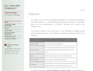 carterreedsettlement.com screenshot