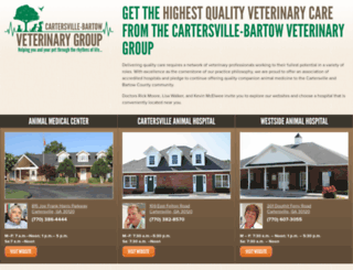 cartersvillevets.com screenshot