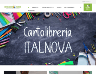 cartolibreriaitalnova.it screenshot