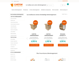 carton-pas-cher.com screenshot