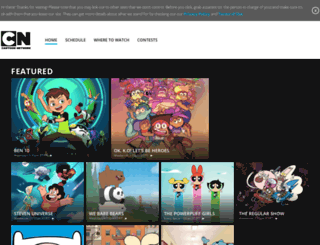 cartoonnetwork.ca screenshot