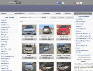 cartrader.com.na screenshot
