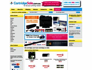 cartridgesale.com.au screenshot