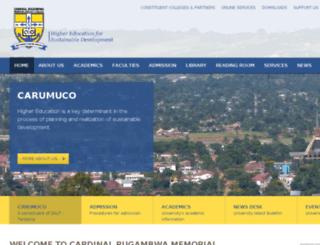 carumuco.ac.tz screenshot