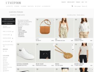 carven.lexception.com screenshot