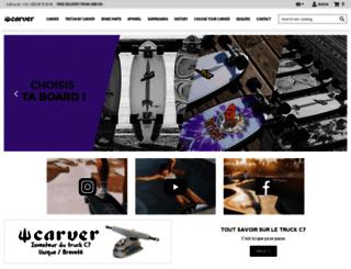 carverskateboards.fr screenshot