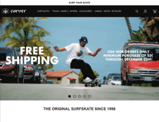 carverskateboards.myshopify.com screenshot