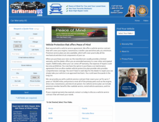 carwarrantyus.com screenshot