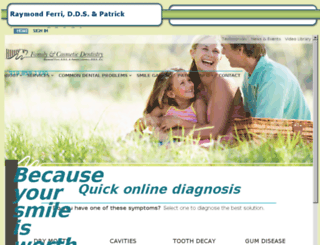 carycosmeticdentist.mydentalvisit.com screenshot