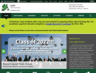 caryhs.wcpss.net screenshot
