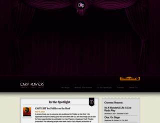 caryplayers.org screenshot