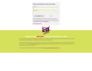 cas.restosducoeur.org screenshot