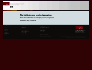 cas.sfu.ca screenshot
