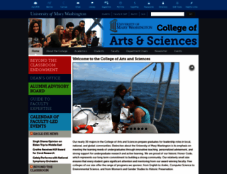 cas.umw.edu screenshot