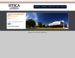 cas.utica.edu screenshot