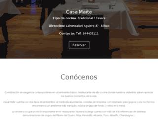 casa-maite.restuento.com screenshot