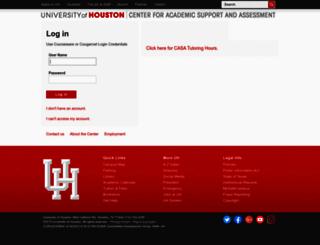 casa.uh.edu screenshot