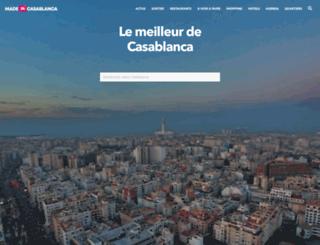 casablanca.madeinmedina.com screenshot