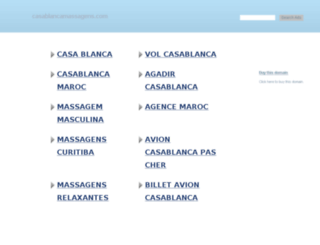 casablancamassagens.com screenshot