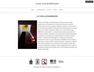 casaluisbarragan.org screenshot