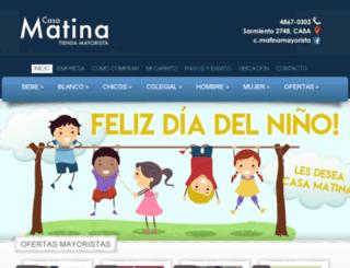 casamatinamayorista.com.ar screenshot