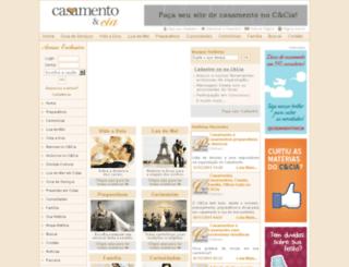 casamentoecia.com.br screenshot