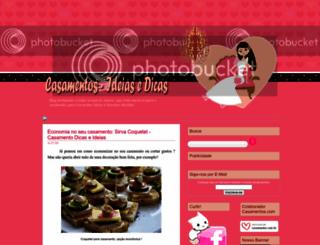 casamentoideiasedicas.blogspot.com screenshot