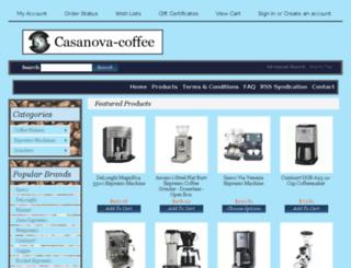 casanova-coffee.com screenshot
