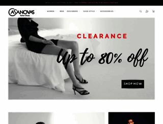 casanovasitalianshoes.com.au screenshot