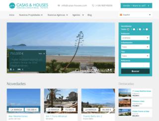 casas-houses.es screenshot