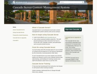 cascade.msu.edu screenshot