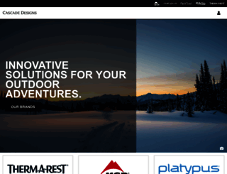 cascadedesigns.com screenshot