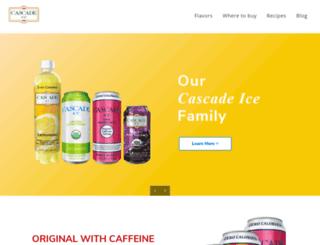 cascadeicewater.com screenshot