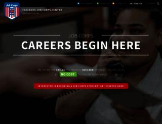 cascades.jobcorps.gov screenshot