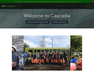cascadianow.org screenshot