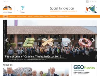 cascina.fondazionetriulza.org screenshot