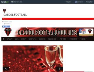 cascolfootball.footeo.com screenshot