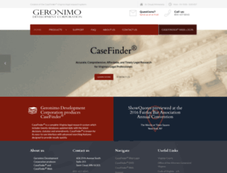 casefinder.com screenshot