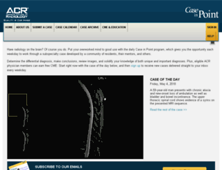 caseinpoint.acr.org screenshot